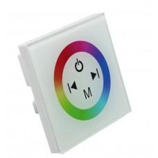 panel sterujący RGB naścienny dotykowy biały